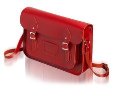 Cambridge Satchel Co. The Classic, in red.