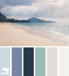 Design seeds - coastal and beach decor: Coastal Decor Color Palette - Mental . - Design seeds – Coastal and beach decor: Coastal Decor Color Palette – Mental Vacation – - Design Seeds, Coastal Colors, Coastal Decor, Coastal Living, Ocean Colors, Coastal Paint, Coastal Cottage, Southern Living, Boho Decor