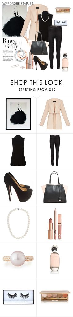 """""""Bijoux"""" by bionixtina ❤ liked on Polyvore featuring BCBGMAXAZRIA, Proenza Schouler, Christian Louboutin, Tiffany & Co., Fendi, Blue Nile, Dolce Vita, Belpearl, Comme des Garçons and Huda Beauty"""