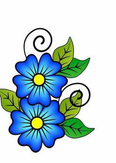 Dibujos De Flores De Colores Imagenes Para Imprimirdibujos Para