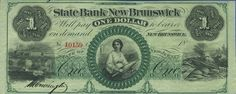 NumisBids: Archives International Auctions Auction Lot 920 : State Bank of New Brunswick, Obsolete Banknote. New Brunswick New Jersey, Battle Of New Orleans, Money Notes, Old Money, One Dollar, Old Paper, Early American, Debt, Vintage World Maps