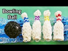 Rainbow Loom Charms: 3D Bowling Ball with loom bands / How to Make