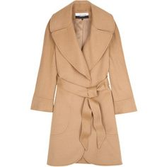 Jaeger London Camel Panelled Swing Coat