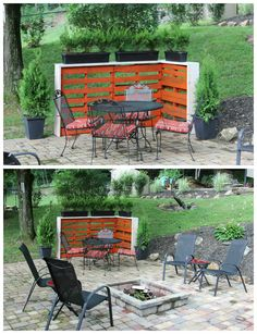 Creating a Cozy Outside Corner With Repurposed Pallets