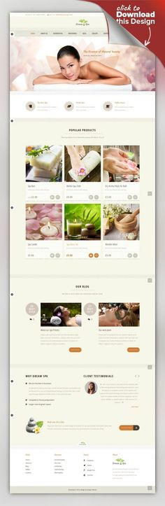 Dream Spa - Salon, Spa WordPress Theme barber, beauty, body spa, gallery, hair style, health care, massage, page builder, products, salon, shop, skin care, spa, therapy, yoga Rejuvenating Beauty Spa, Salon and Wellness Treatments WordPress theme Spa theme with tons of potential features for Spa Business.Whether you create a fresh website for your salon or need a feel good refreshing style for your existing web presence, Dream Spa will be the be...
