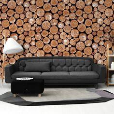 3D retro wood mural wallpaper Living room bedroom TV wall background wallpaper PVC waterproof wallpaper roll