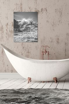 Turn your bathroom into a natural hot spring when you hang this metal print of Mammoth Hot Springs. Beautiful black and white landscapes look great as metal prints and are waterproof for bathroom decor. This landscape art print is great for Yellowstone National Park lovers and starts under $25, making it a great holiday gift idea. Order by November 30th to ensure holiday delivery. Shop now at www.rogueauroraphotography.com/wall-art-shop/mammoth-hot-springs.