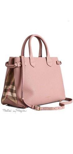 Burberry of London ~ Medium Banner Bag in Leather, Nude via Regilla Diese und weitere Taschen auf www.designertaschen-shops.de entdecken