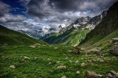 Karaçay. Karachay-Balkar. Домбай. Кавказ. Caucasian People, Russia, Watercolor, Mountains, Places, Nature, Travel, Art, Pen And Wash