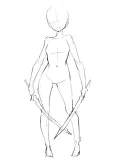 Females Reference , knight , sword , base , poses , perspectives ( front )