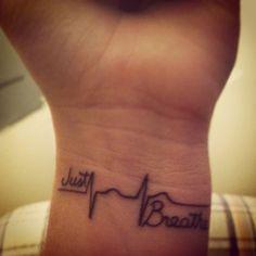 Third tattoo of mine #justbreathe #heartbeat