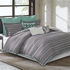 Echo Design Kalea Comforter Set California King BlackWhite ** See this great product.