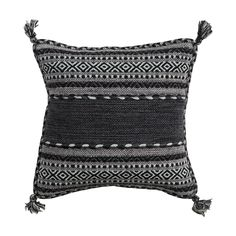 """Add a gorgeous neutral touch to your favorite couch or armchair with this stunning throw pillow. Wonderfully crafted from cotton and chenille, this Lena Throw Pillow features beautiful, traditionally-i...  Find the Lena Throw Pillow - 20"""" x 20"""", as seen in the Handwoven Bohemian Home Collection at http://dotandbo.com/collections/handwoven-bohemian-home?utm_source=pinterest&utm_medium=organic&db_sku=114584"""
