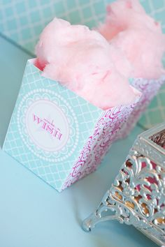 cotton candy boxes... adorable