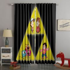 3D Printed Steven Universe Style Custom Living Room Curtains – Westbedding