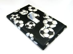 Light Switch Cover Soccer Ball Sports Nursery by ModernSwitch