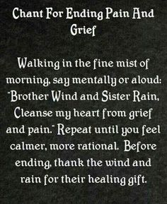 Now, to be able to move without pain enough to go into a fine mist of morning.