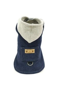 Dog Coat Denim Hooded Denim Dog Jacket pet by RockinDogsCoolCats