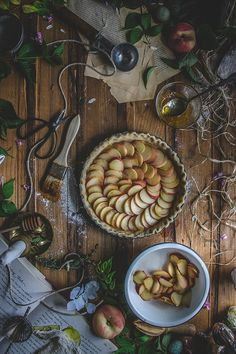 White Peach, Thyme & Rose Water Tart (Vegan, Dairy-Free & Low-Fat) | TermiNatetor Kitchen