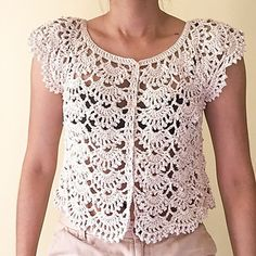 Ravelry: laexisCrochet's Cropped Cardigan