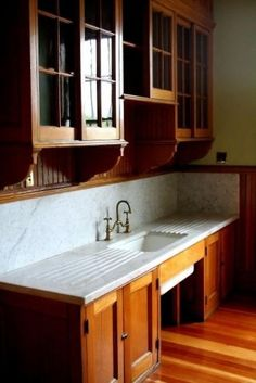 Love these sliding cabinet doors