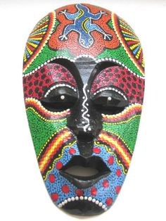 african masks patterns - Google Search