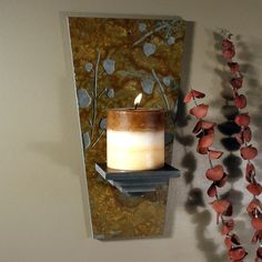 Olympic Stone Wall Scone - Leaves on Copper Slate. $44.50, via Etsy.
