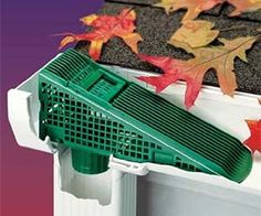 Place this wedge where the gutter meets the downspout. Flowing water will push leaves up the Gutter Wedge and out of the gutter, preventing downspout clogs. Drain Français, Trailer Casa, Gutter Screens, Gutter Drainage, Yard Drainage, Drainage Solutions, Drainage Ideas, Yard Tools, Water Collection