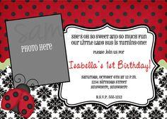 Ladybug Birthday Invitation by LoveLifeInvites on Etsy