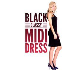 "Sale """"Enchanted Evening"""" Black Sleeveless Dress"