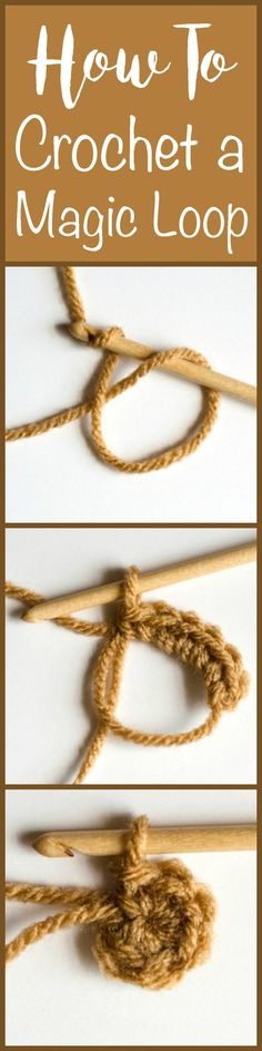 A great magic ring tutorial. Love this magic loop method! - A magic ring (also called an adjustable loop) is a beautiful thing! Learn how to crochet a magic ring and kick your crochet up a notch! Crochet Basics, Crochet For Beginners, Knit Or Crochet, Learn To Crochet, Crochet Crafts, Crochet Stitches, Crotchet, Crochet Double, Diy Crochet Projects