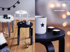 Nicest Things: DIY: Ikea Hack Hackers Pimp Frosta Hocker Alvar Aalto Nordic Christmas Decoration Bokeh