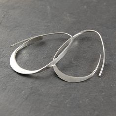 Silver Hoop Earrings Hoops 925 Silver Earrings by OtisJaxon
