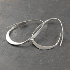 Silver Hoop Earrings Hoops 925 Silver Earrings by OtisJaxon