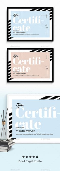 Zebra #Certificate - Certificates Stationery Download here: https://graphicriver.net/item/zebra-certificate/19656501?ref=alena994