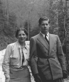 Queen Elena of Romania with her son King Michael