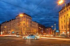 Urban Traffic at Rosenthaler Platz - Berlin Germany Light Trails, Hdr Photography, Berlin Germany, Etiquette, Homeland, Street View, Scene, Urban, Travel