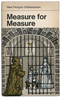 1968 'Measure for Measure' cover by David Gentleman Book Cover Art, Book Cover Design, Book Design, Book Art, Vintage Book Covers, Comic Book Covers, Vintage Books, Antique Books, Comic Books