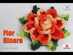 Flor de Crochê Sinara - Professora Simone - YouTube                                                                                                                                                                                 Mais
