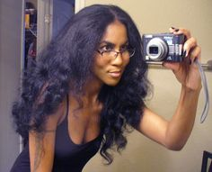 Straightened curly do. Like her, I love the versatility of my hair!