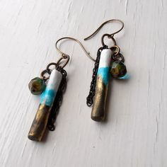 Pretty little numbers from Songbead long earrings handmade earrings beaded earrings by songbead, £22.00