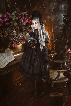"""Gothic Lolita - """"/cgl/ - Cosplay & EGL"""" is imageboard for the discussion of cosplay, elegant gothic lolita (EGL), and anime conventions. Goth Subculture, Lolita Mode, Lolita Cosplay, Gothic Lolita Fashion, Satin Roses, Tumblr, Cosplay Outfits, Visual Kei, Pastel Goth"""
