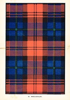 "Johnston's Scottish Tartans - ""MACLACHLAN"" - Chromolithograph - c1899"