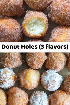 These Homemade Donut Holes come in 3 yummy flavors. With easy-to-follow steps, this recipe is perfect for satisfying any at-home donut craving. #donutholes #donutholesrecipe #homemadedonutholes #donutholes3flavors