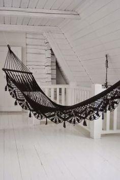 Lace hammock. #GothicHomeDecor