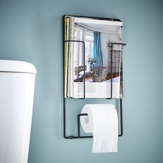 Range magazines et dérouleur papier toilette