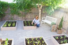 Raised Herb Garden: An Outdoor Space Makeover Outdoor makeovers can seem like a huge project. Raised Herb Garden, Garden Soil, Garden Boxes, Side Garden, Garden Ideas, Indoor Garden, Outdoor Gardens, Rustic Outdoor Furniture, Herb Planters