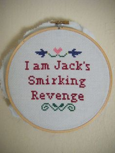 Snarky Subversive Cross Stitch