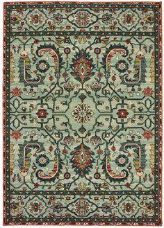 Stylehaven StyleHaven Damien Vintage Tribal Framed Floral Rug