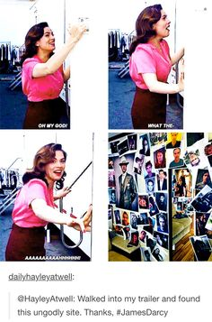 Pranks on the set of Agent Carter.